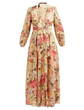 Honour Floral Print Voile Dress by Zimmermann