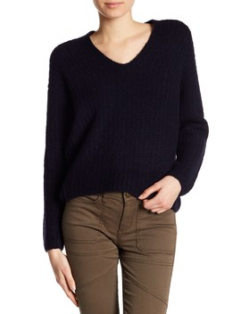 Ribbed Cashmere Blend Sweater by Vince