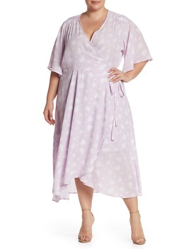 Orna Print Wrap Dress (Plus Size) by Bobeau
