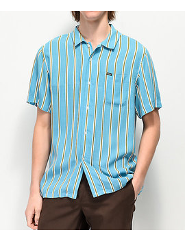 Obey Market Striped Woven Short Sleeve Button Up Shirt by Obey