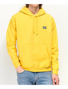 Obey All Eyez Freesia Yellow Hoodie by Obey