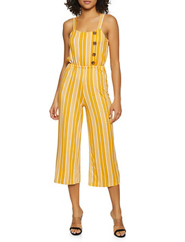 Striped Soft Knit Palazzo Jumpsuit by Rainbow