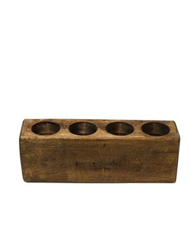 Sugar Mold 4 Hole Wood Candlestick by Union Rustic