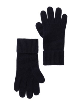 Cashmere Ribbed Gloves by Portolano