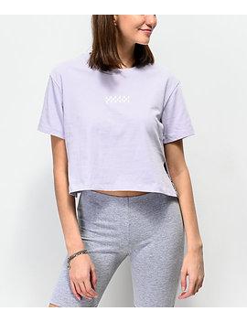 Vans Side Split Lavender Crop T Shirt by Vans