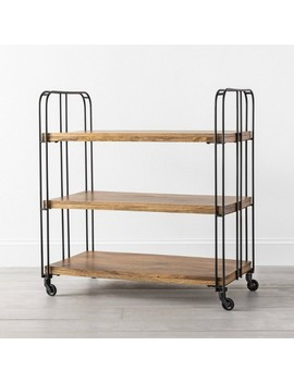 3 Shelf Wood / Metal Rolling Cart   Hearth & Hand With Magnolia by Hearth & Hand With Magnolia