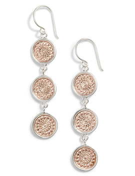 Beaded Triple Drop Earrings by Anna Beck