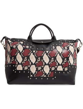 Le Pliage Python Embossed Leather Satchel by Longchamp