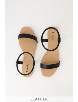 Zaira Black Flat Sandals by Lulu's