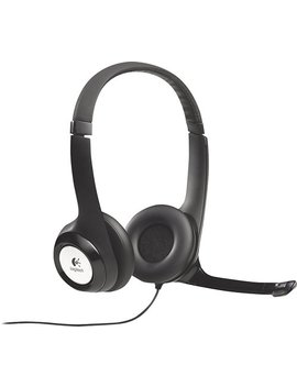 H390 Usb Headset With Noise Canceling Microphone   Black by Logitech