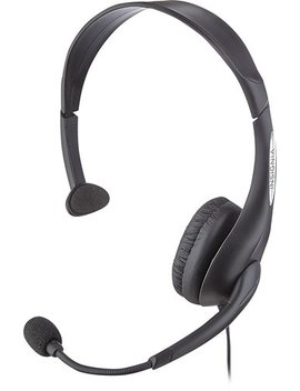 On Ear Analog Mono Headset   Black by Insignia™
