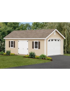 12 Ft. W X 26 Ft. D Solid Wooden Garage Shed by Yard Craft