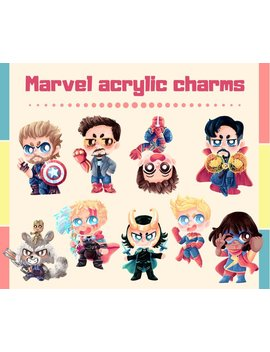 Marvel Acrylic Charms by Etsy