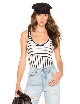 Micromodal Ribbed Stripe Bodysuit by Atm Anthony Thomas Melillo