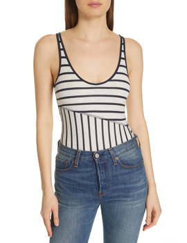 Stripe Ribbed Bodysuit by Atm Anthony Thomas Melillo