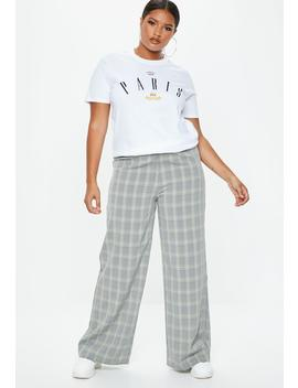 Plus Size Gray High Waisted Pants by Missguided