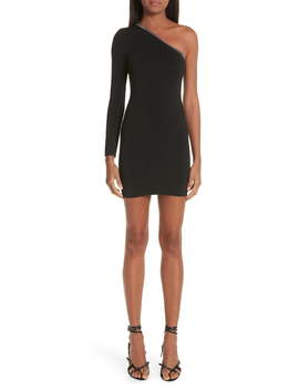 Ball Chain Trim One Shoulder Body Con Dress by Alexander Wang