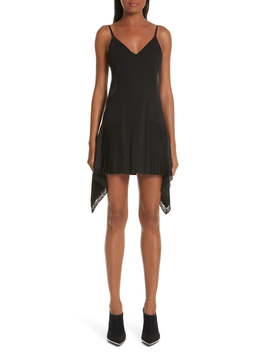 Pleat Inset Slipdress by Alexander Wang