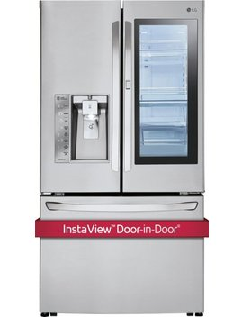 29.6 Cu. Ft. French Insta View Door In Door Smart Wi Fi Enabled Refrigerator   Stainless Steel by Lg