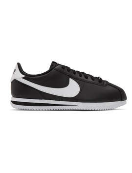 black-leather-basic-cortez-sneakers by nike