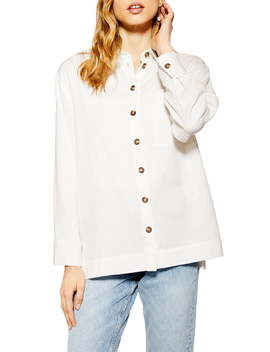 Casual Button Up Blouse by Topshop