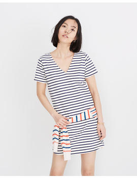 Relaxed Tee Dress In Yorktown Stripe by Madewell
