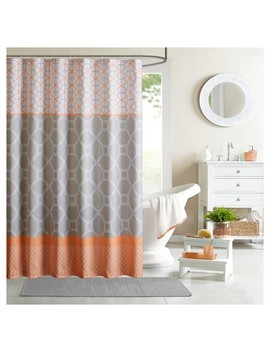 Sarah Geometric Printed Microfiber Shower Curtain by Shop This Collection