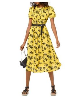 Botanical Pintucked Dress by Michael Michael Kors