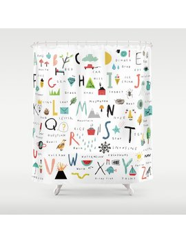 Abc Shower Curtain by Society6