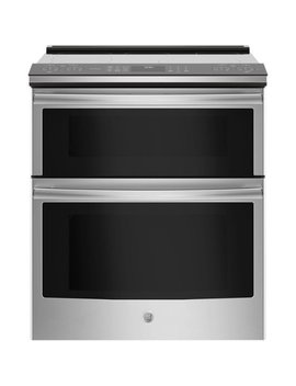 6.6 Cu. Ft. Slide In Double Oven Electric Convection Range   Stainless Steel by Ge