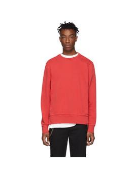 Red Seeing Lines Sweatshirt by Ksubi
