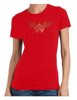 Wonder Woman Rhinestone T Shirt by Etsy
