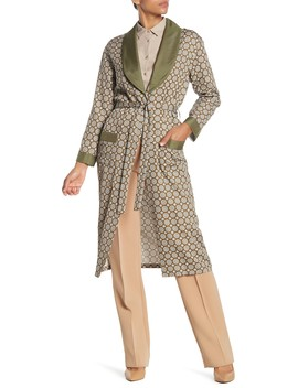 Printed Tie Waist Robe by Burberry