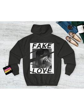 방탄소년단 Bts Fake Love Back Design Kpop Hoodie Bangtan Boys   Bangtan Sonyeondan   Bts Hoodie   Love Yourself by Etsy