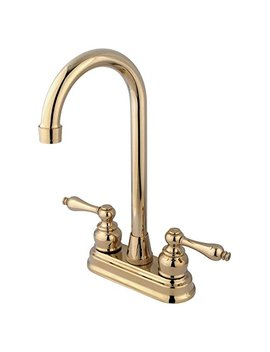 "Kingston Brass Kb492 Al Victorian High Arch Bar Faucet, 4 3/4"", Polished Brass by Kingston Brass"