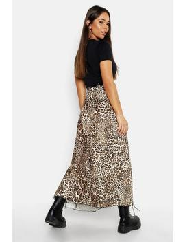 asymmetric-leopard-midi-skirt by boohoo