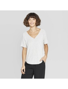 Women's Short Sleeve V Neck Raglan T Shirt   A New Day by Neck Raglan T