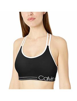 Calvin Klein Women's Ruched Front Strappy Sports Bra by Calvin Klein