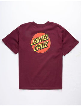 Santa Cruz Classic Dot Burgundy Boys T Shirt by Santa Cruz