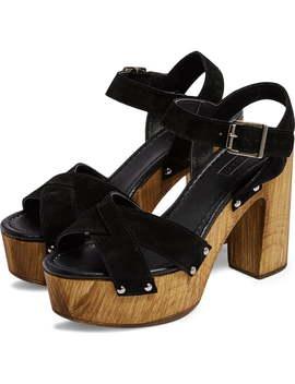 Vanessa High Heel Clog Sandal by Topshop
