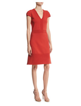 Ottoman Flare Hem Dress by Michael Michael Kors