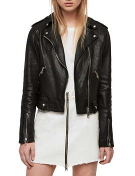 Vixon Leather Biker Jacket by Allsaints