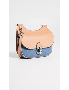James Small Denim Saddle Bag by Tory Burch