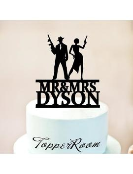 Bonnie And Clyde Wedding Cake Topper,Wedding Cake Topper,Gatsby Cake Topper,Gatsby Wedding Cake Topper,Mobsters Or Shooters Cake Topper 1261 by Etsy