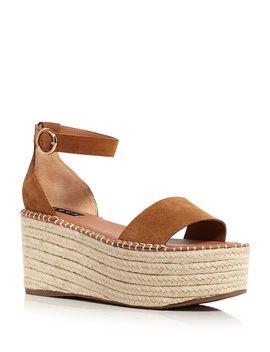 Women's Ria Suede Espadrille Platform Sandals   100 Percents Exclusive by Aqua