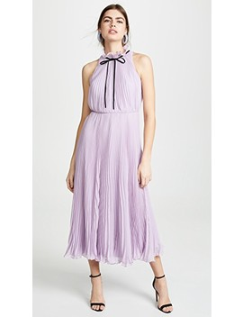 pleated-tie-neck-gown by jill-jill-stuart