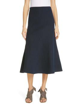 Tech Ribbed Midi Skirt by Tibi