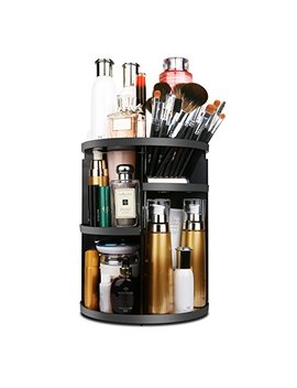 Mofir Makeup Organizer 360 Degree Rotating, Adjustable Multi Function Cosmetics Storage Box, Small Size Extra Large Capacity, Fits Different Sizes Of... by Mofir
