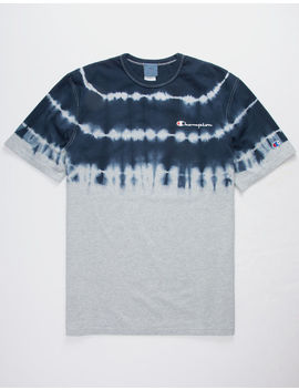 Champion Script Embroidered Dip Dye Mens T Shirt by Champion