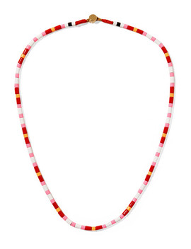 Hibiscus Enamel Necklace by Roxanne Assoulin